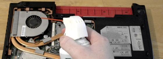 Laptop ventilátor tisztítás házilag